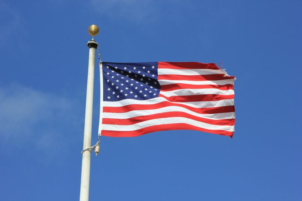 Conservative principles: an American flag flying on a clear summer's day